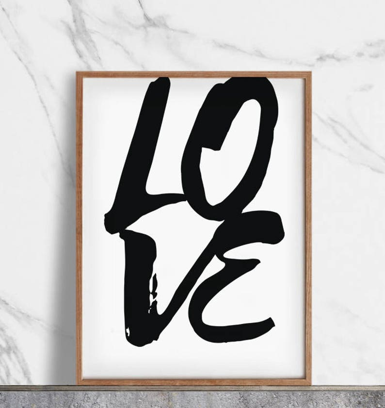 Romantic Love Typography Poster Print  Wall Art 050