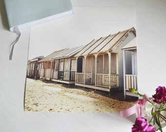 Beach Hut Square Print