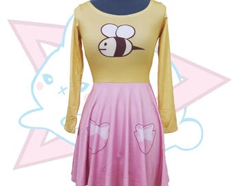 Bee Pink & Yellow |  Skater Dress | Bee and Puppycat