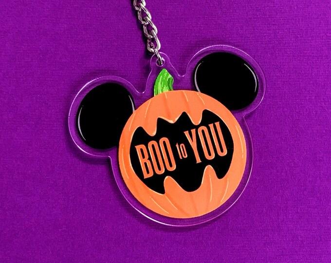BOO TO YOU Acrylic Keychain
