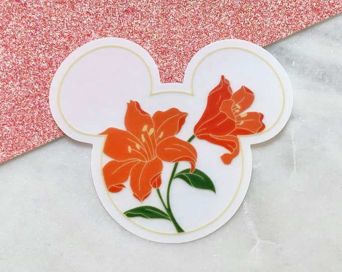 FIRE LILY Mouse Clear Sticker