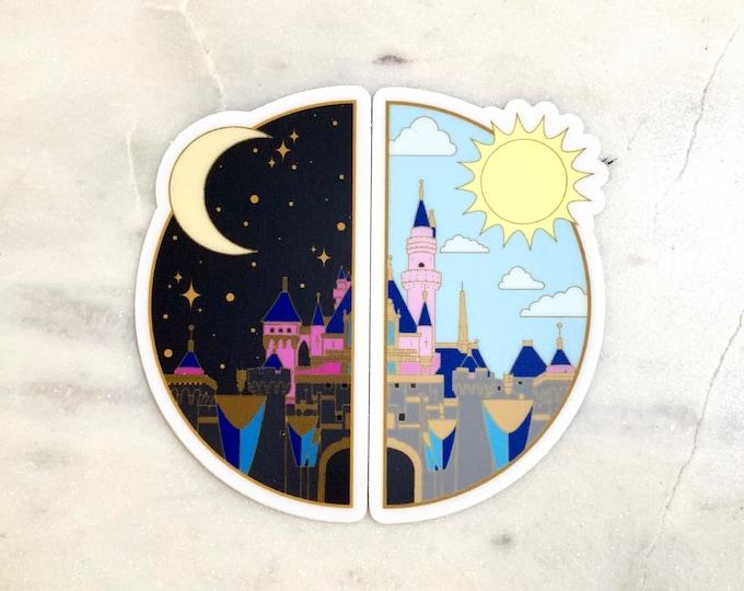 NIGHT & DAY Sleeping Princess Vinyl Stickers