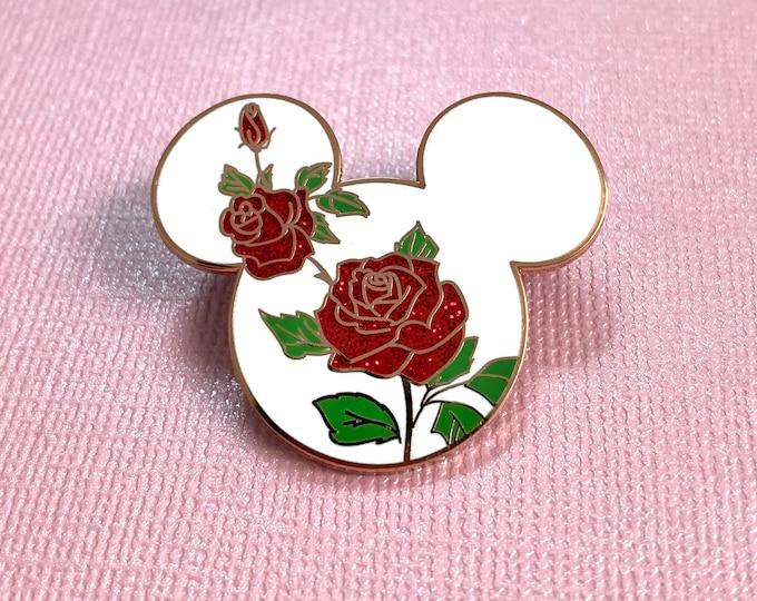 ROSE Mouse Enamel Pin