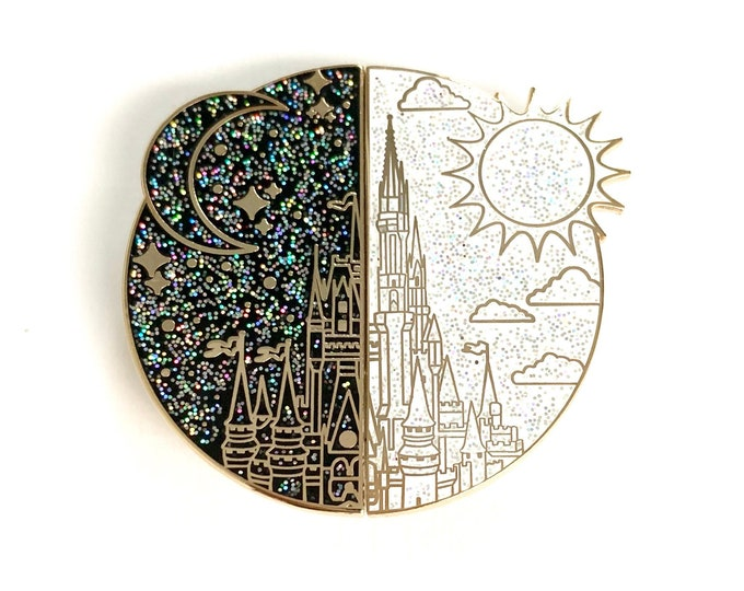 NIGHT & DAY Cindy's Castle Pins (Rainbow Glitter)