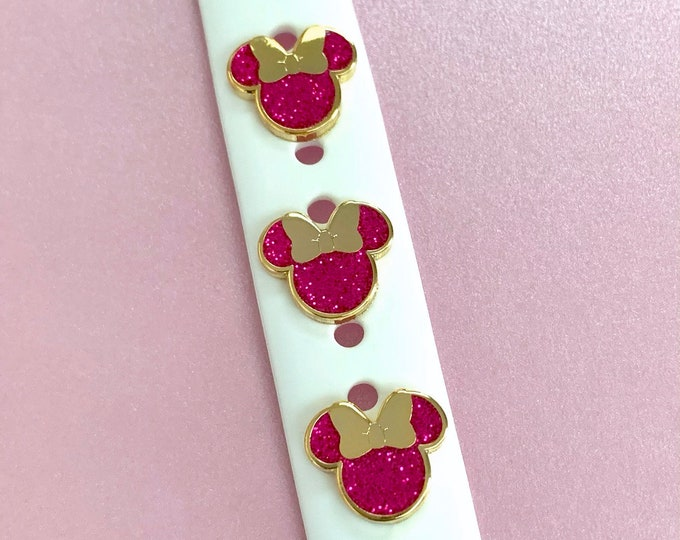 Miss Mouse PINK Sparkle 'Wristband Candy' Band Button