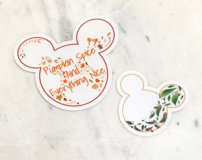 FALL Mr. Mouse Clear Stickers