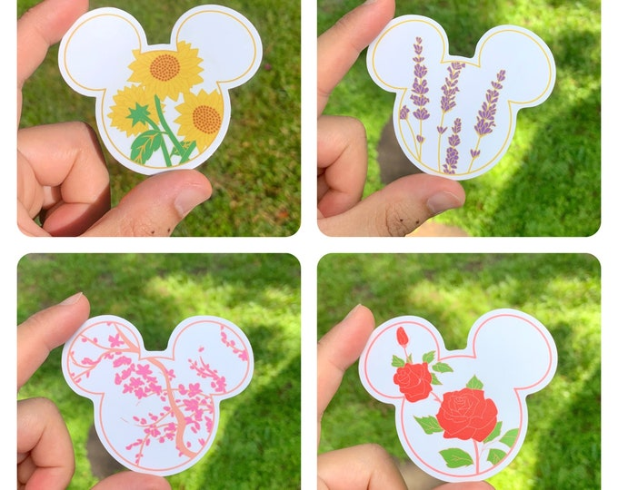 Mr. Mouse FLORAL Stickers