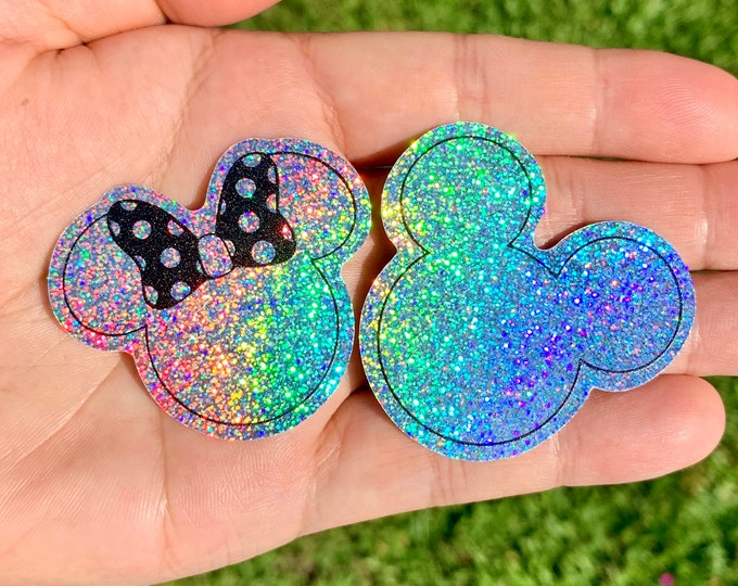 Miss & Mr. Mouse Glitter Stickers
