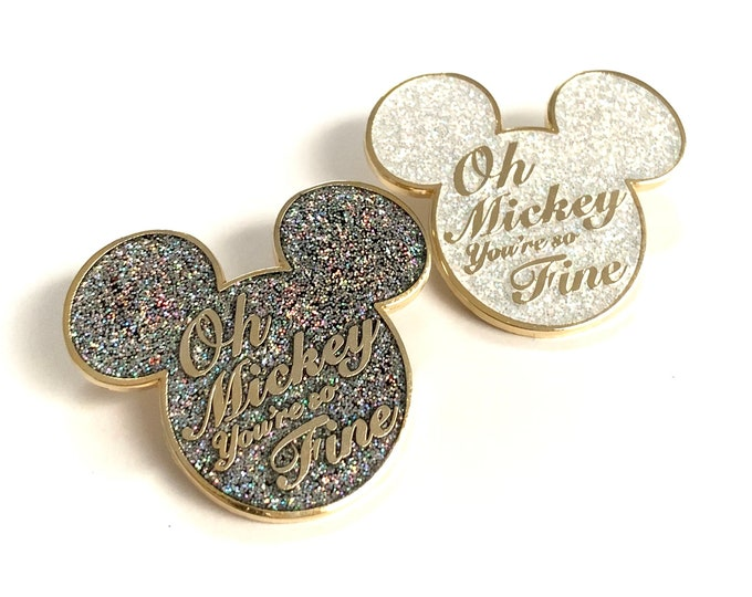 Oh Mickey, You're So Fine Enamel Pins