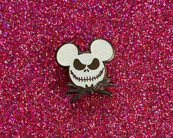 Mr. Mouse Skeleton Sparkle Enamel Pin