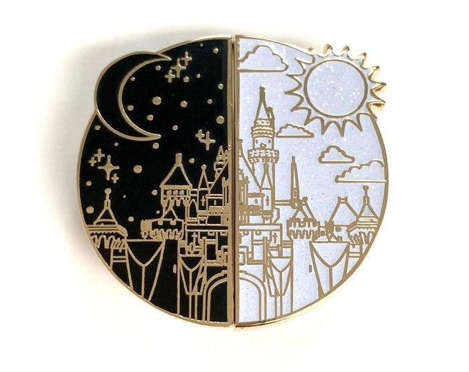 NIGHT & DAY Sleeping Princess Castle Enamel Pins
