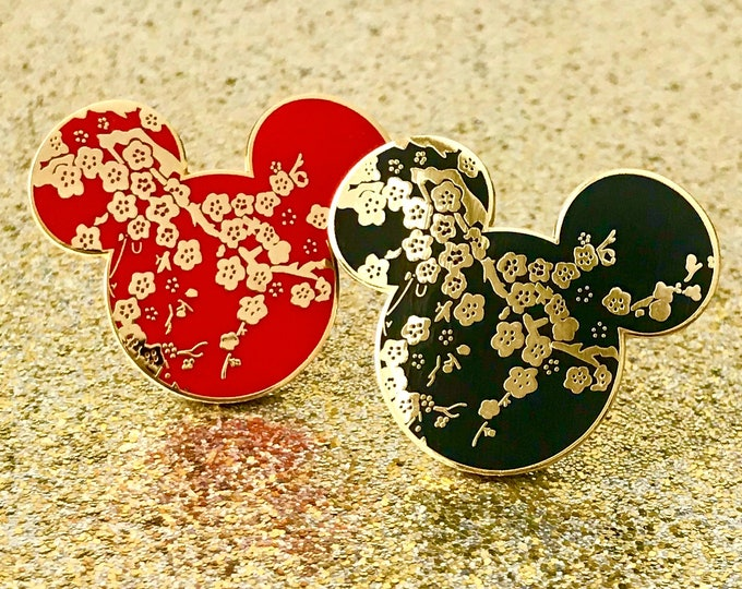 Lunar New Years Mr. Mouse Enamel Pins