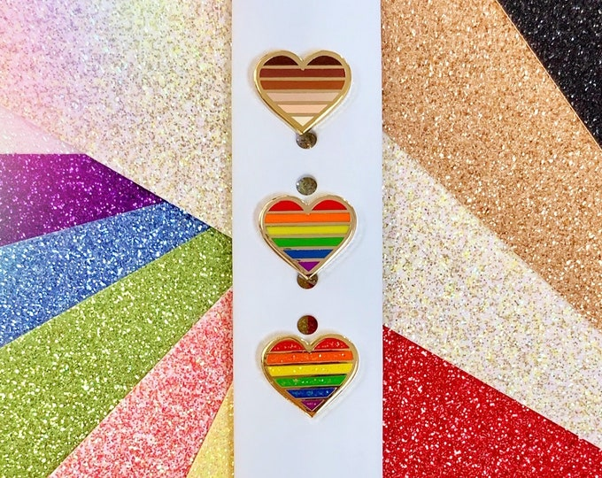 LGBTQ & BLM Heart 'Wristband Candy' Band Buttons