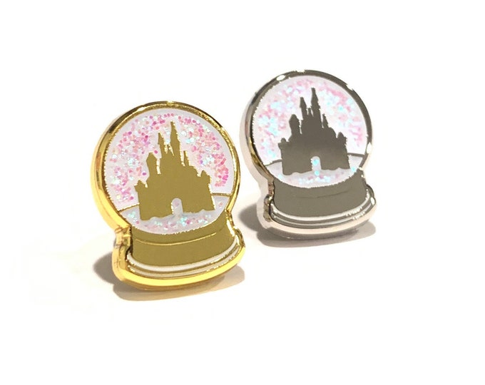 Winter In Magic Kingdom Snow Globe 'Wristband Candy' Band Buttons