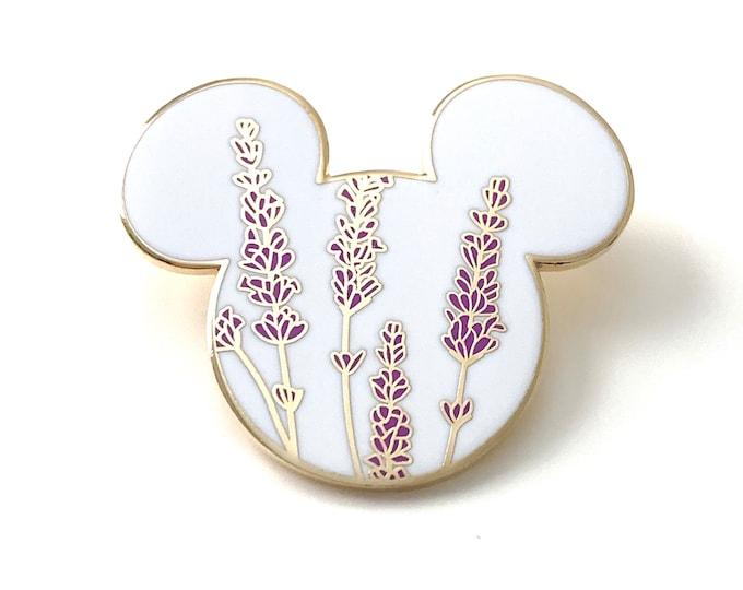 Lavender Mouse Enamel Pin