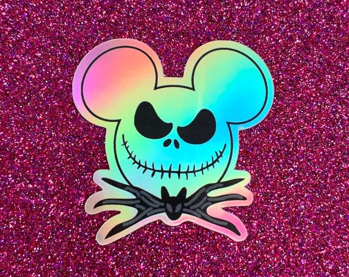 Mr. Mouse Skeleton HOLOGRAPHIC Sticker