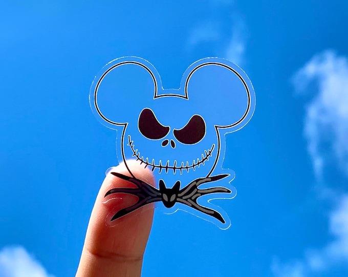 Mr. Mouse Skeleton Clear Sticker