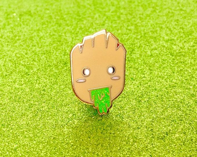Puking Baby Groot Enamel Pin