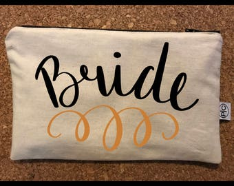 Bride Zipper Pouch Bag