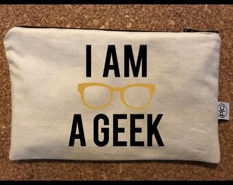 I am a Geek Zipper Pouch Bag