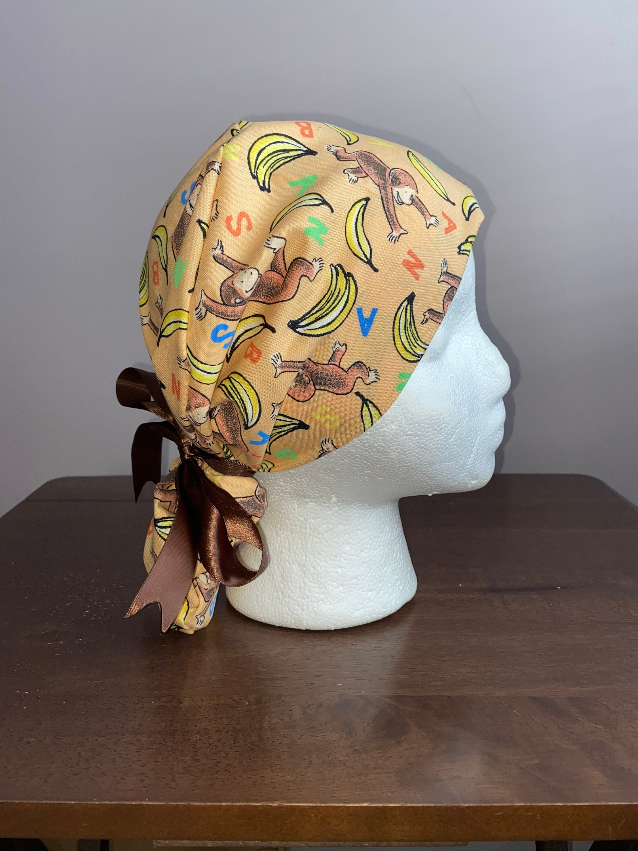 CURIOUS GEORGE pixie  Euro hatmedical  scrubchemo