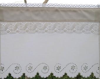 Curtain Linon Breakor or Kissbreaker and Handmade Richelieu Embroidery