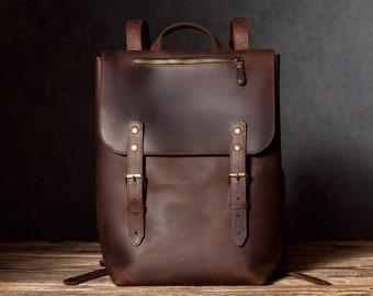 a8f038147e Leather Backpack for Men Travel Rucksack Large Backpack Leather Brown Rucksack  Mens Backpack Handmade Leather Bag for Mens Gift for Him
