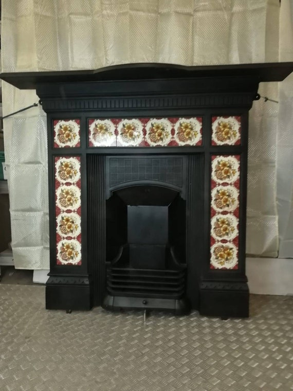 Victorian Fireplace Cast Iron Fire Surround Complete Etsy