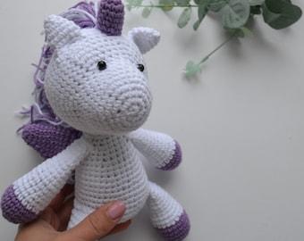 Weißes Einhorn Puppe Häkeln Einhorn Geschenk Gefüllte Einhorn Etsy