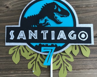 Personalized Jurassic World Cake Topper Park Party Theme Birthday