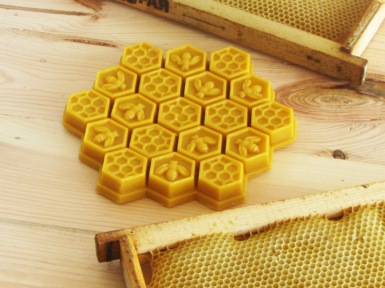 ointments and many other purposes Beeswax is great material for candles yellow hexagon made of beeswax Beeswax