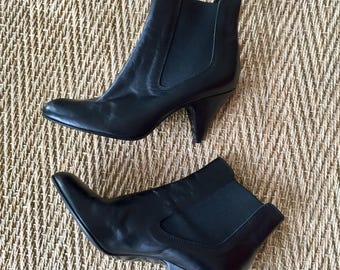 Gorgeous boots black leather - Made in Italy