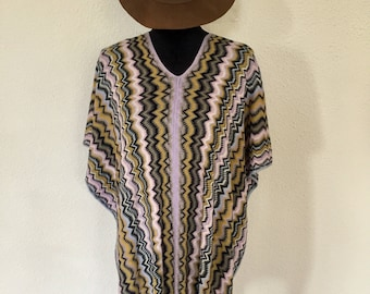 MISSONI - Poncho with famous in Italy herringbone pattern