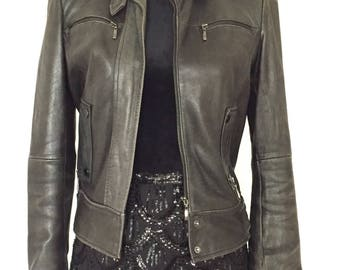 Small leather jacket - size S