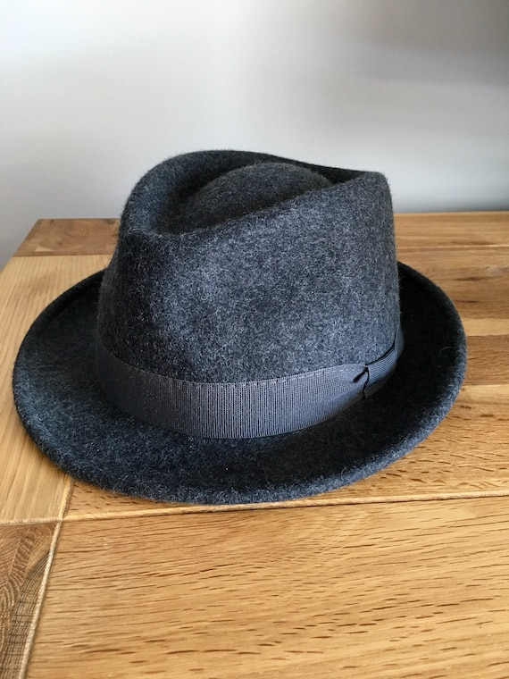 WATERPROOF CRUSHABLE Fedora gray-hand made in Italy-100%  abd95bde0a77
