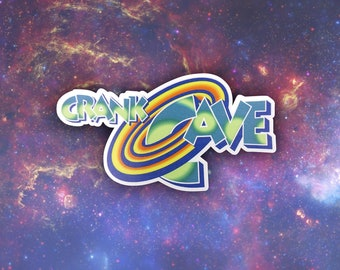 Crank Cave Logo (Space Jam Variant) Sticker