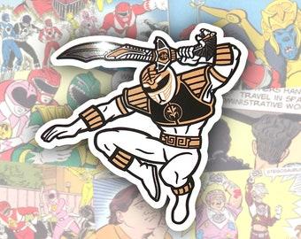 White Ranger Metallic Sticker