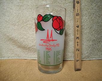 Official 1986 Kentucky Derby Glass, 112th Race