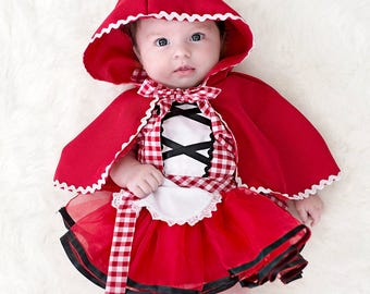 Red Riding Hood costume baby Red Riding Hood costume baby costume apron newborn photo prop newborn Halloween costume newborn costume  sc 1 st  Etsy & Newborn costume | Etsy