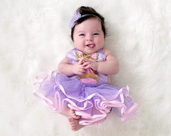 Rapunzel baby costume, baby princess costume, newborn photo prop, princess baby shower gift, baby girl Halloween costume, newborn baby girl