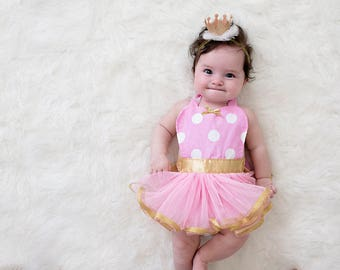 Pink and Gold dress up apron for baby Pink Minnie Mouse costume apron baby costume pink and gold newborn photo prop pink princess costume  sc 1 st  Etsy & Rapunzel baby costume baby princess costume newborn photo | Etsy