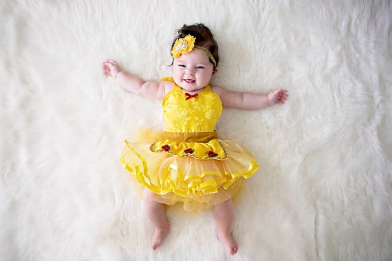 image 0  sc 1 st  Etsy & Belle costume Belle baby costume baby princess costume | Etsy