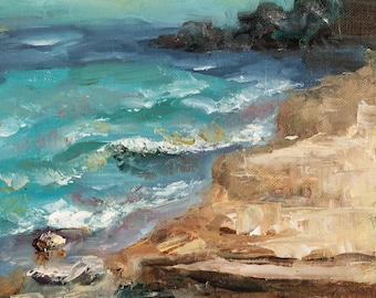Hartigan Beach - Original Plein air Painting