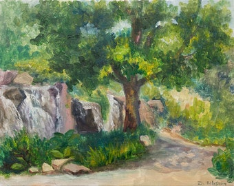 Waterfall - Original Plein air Painting