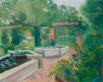 Enabling Garden - Original Plein air Painting
