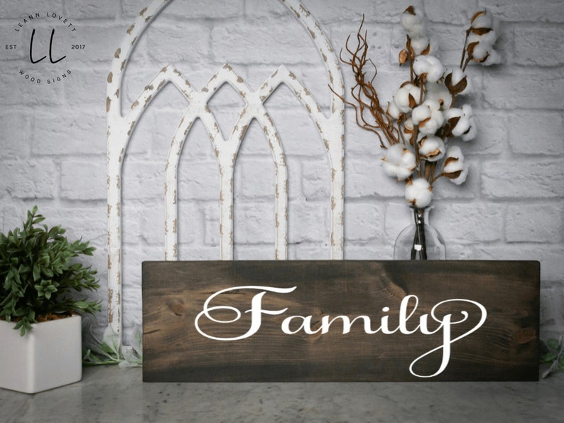 Sign that says family   Family sign wood  Family sign rustic  Farmhouse sign  Signs for the home  Rustic home decor  Wall art
