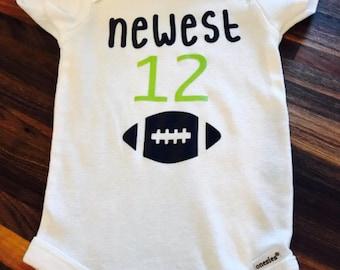 Newest 12 Seahawks baby onesie 91e51db19