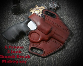 d047077ad156 Smith and Wesson K Frame 4 inch. Outside the Waist Band (owb). Custom  leather holster. Hand Made. Hand Crafted