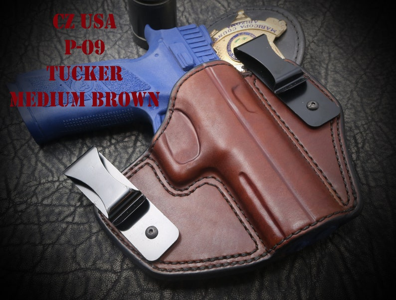 CZ USA P-09 Tucker Holster  Tuckable Inside the Waist Band ( IWB )  Custom  leather holster  Hand Made  Hand Crafted
