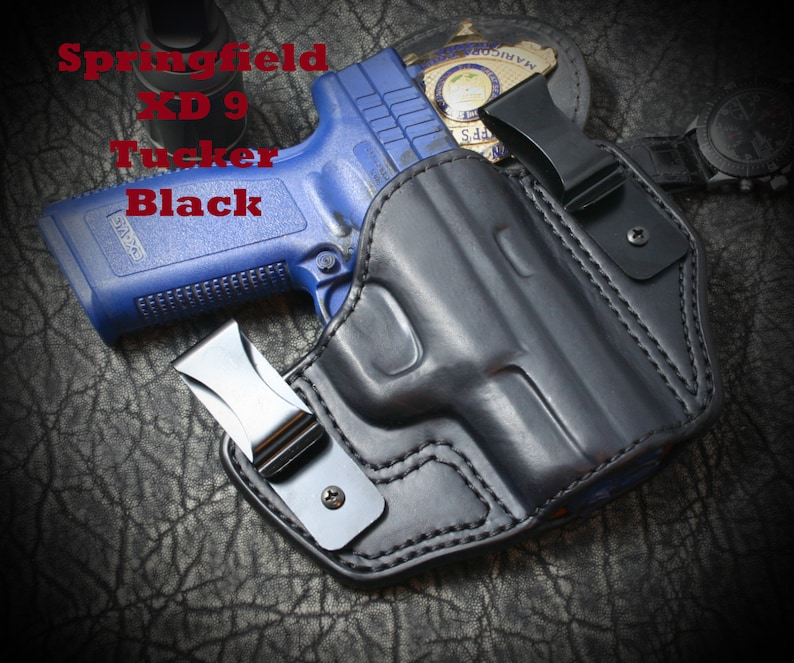 Springfield XD-40 Sub Compact  Tucker Holster  Tuckable Inside the Waist  Band ( IWB )  Custom leather holster  Hand Made  Hand Crafted